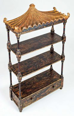 Chinoiserie Three-Tier Hanging Shelf