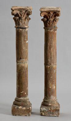 18th Century Italian Terracotta Corinthian Columns
