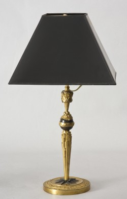 French Gilded Bronze Lamp