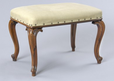 English Antique Victorian Rosewood Stool