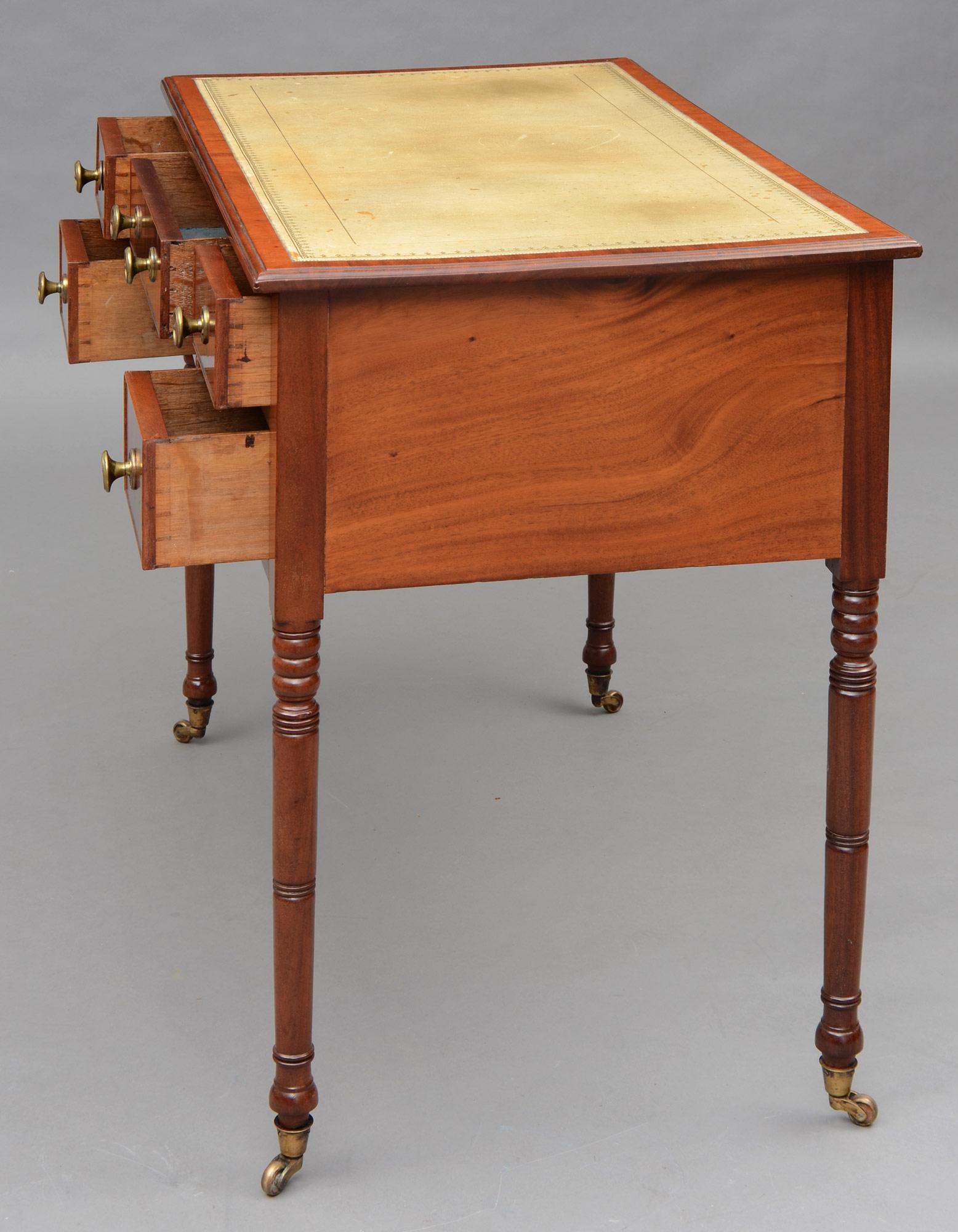 English Regency Mahogany Ladies Antique Writing Desk