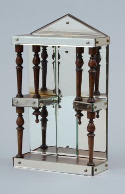 Hanging Antique Mirrored Shelf