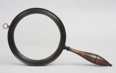 Antique Gallery Treen Magnifying Glass, Circa 1790