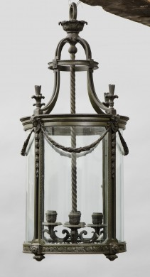 French Antique Bronze  Lantern
