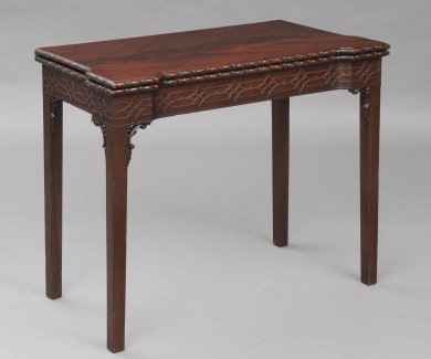 English Chippendale Period Concertina Action Card Table, Circa 1790