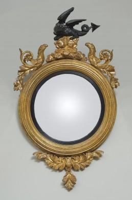 Antique English Regency Convex Mirror