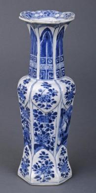 Chinese Kang Xsi Cylindrical Vase