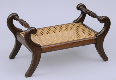 English Antique Mahogany Footstool