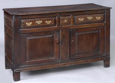 Antique English Period George II Oak Cupboard, Circa 1750