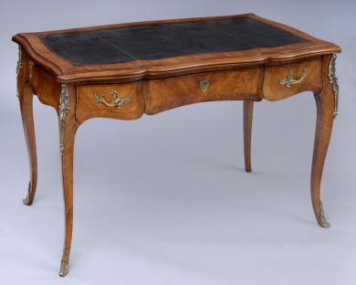 French Antique Kingwood Bureau Plat
