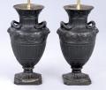 Pair English Antique Adam Style Lamps