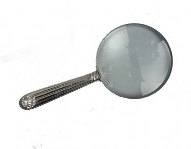 Magnifying Glass with Sterling Handle, Circa 1800