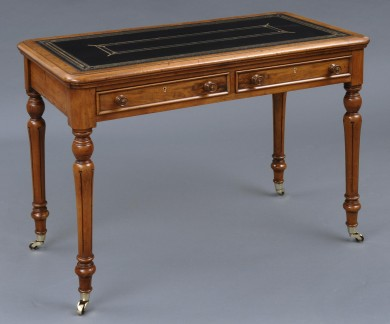 Antique English Walnut Writing Table