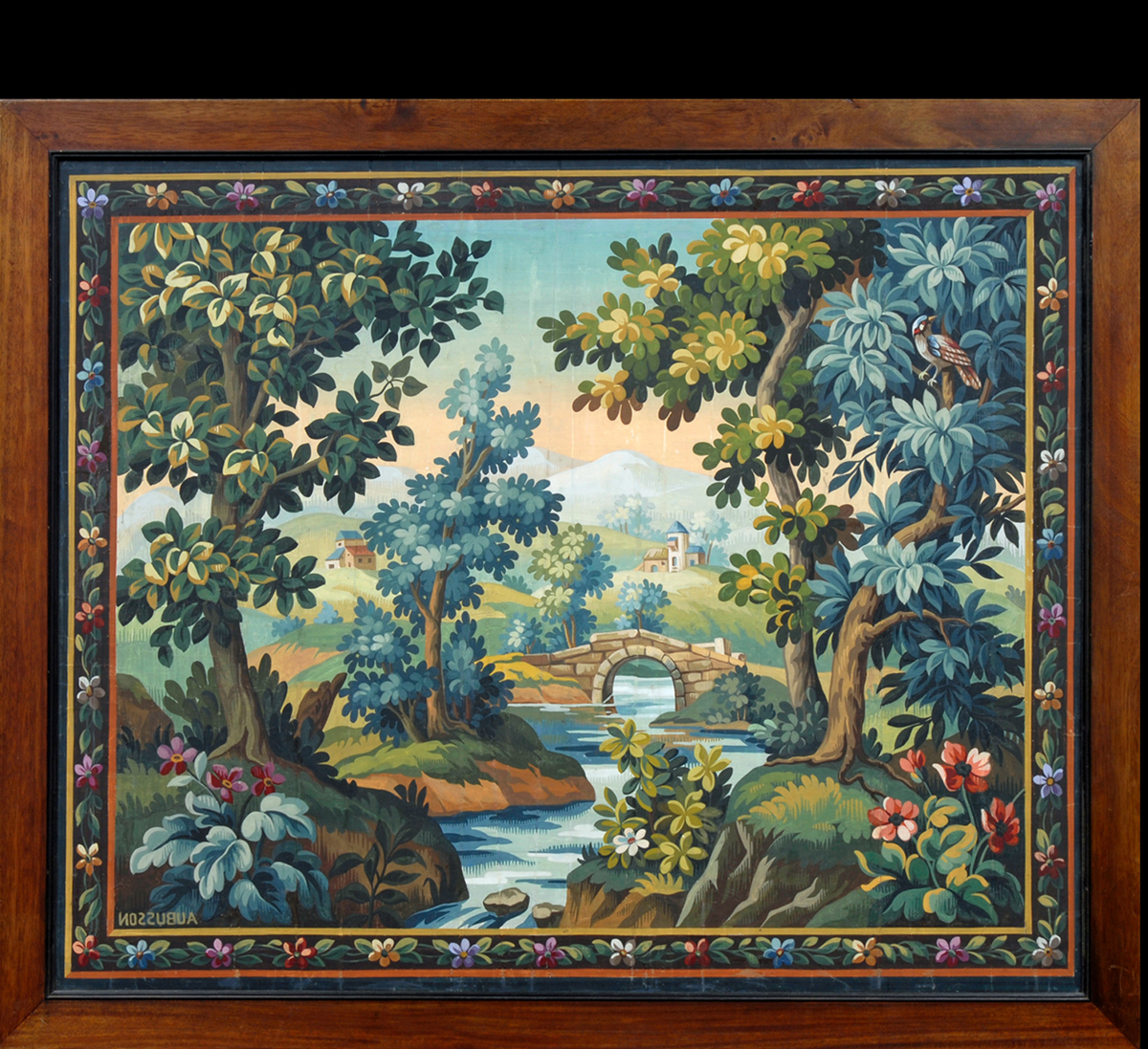 Antique Aubusson Tapestry Cartoon