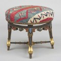 Gothic Revival Painted Stool