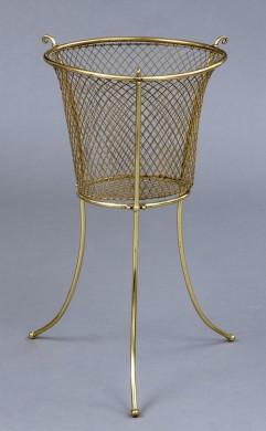 Antique Brass Waste Paper Basket