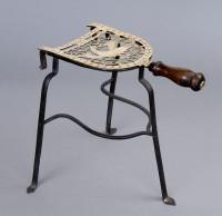 Georgian Brass and Iron Trivet, Circa 1810