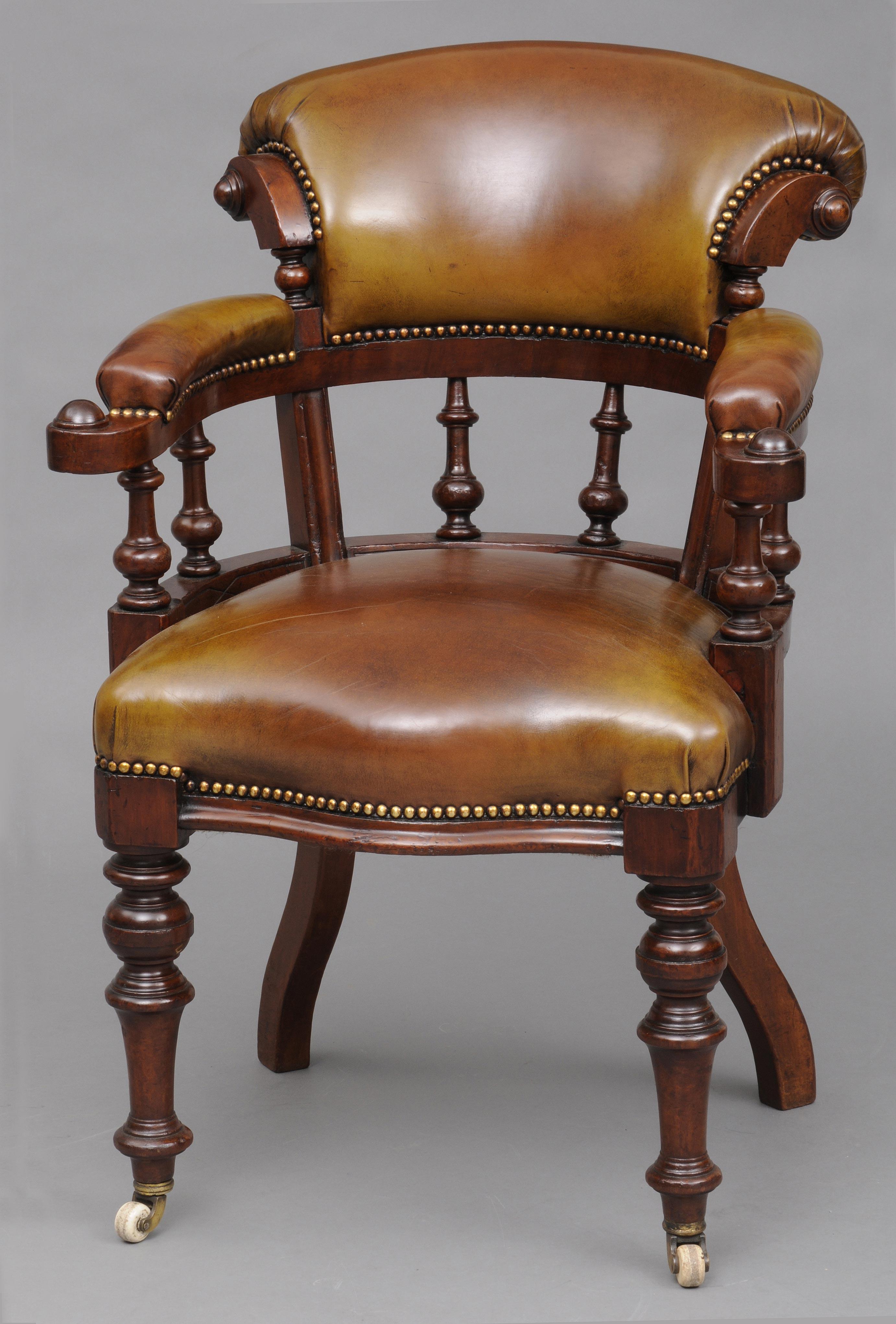 Antique Desk Chair English Antique Mahogany Amp Leather