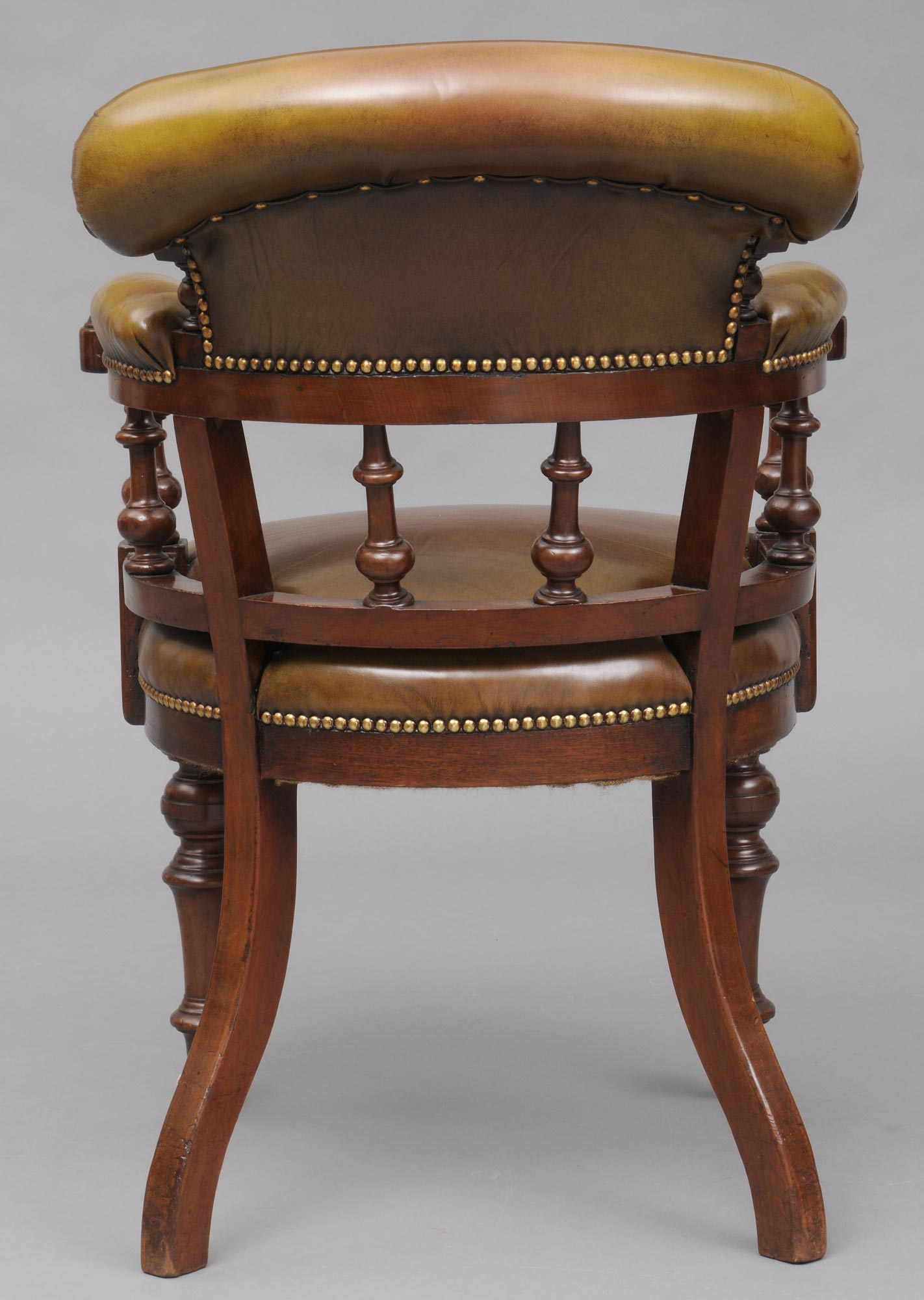 Antique Desk Chair English Antique Mahogany Amp Leather