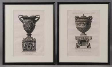 Pair Framed Piranesci Etchings