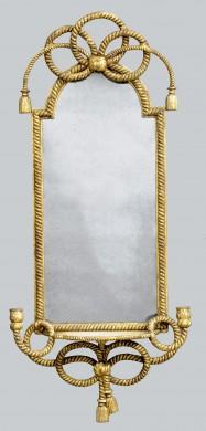 English Giltwood Rope Twist Mirror
