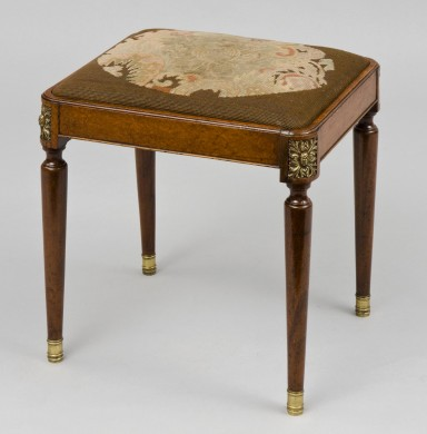 French Antique Amboyna Stool