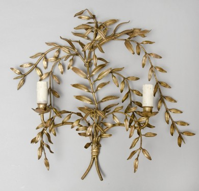 French Antique Gilded Sconce