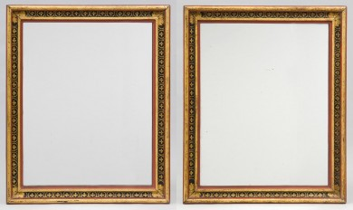 Pair Italian Painted Mirrors