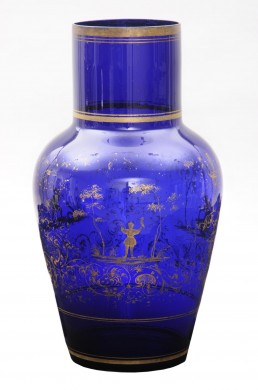 Large Cobalt Blue Glass Vase