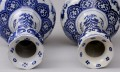 Pair Dutch Delft Bottle Vases, 19th Century