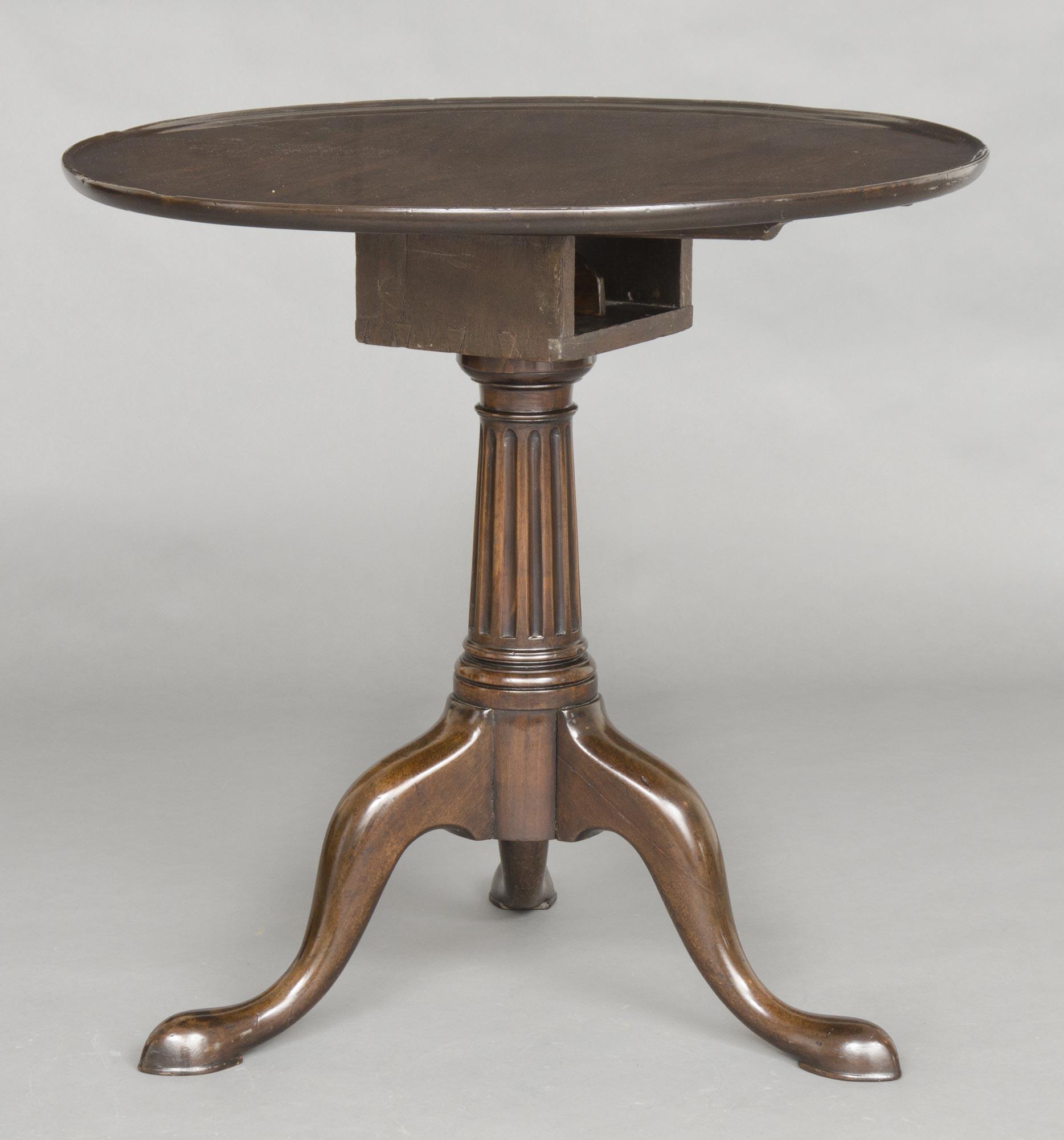 George Ii Walnut Tripod Tea Table Circular Antique Tea