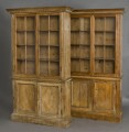 Antique English Pair of Pine Glazed Bookcases