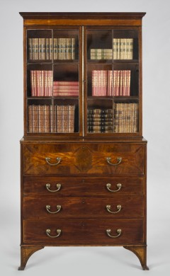 English Antique Georgian Secretaire Bookcase