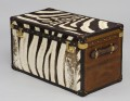 Custom Order Leather & Zebra Trunk