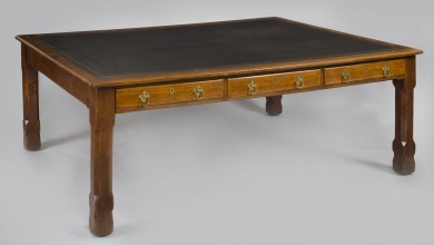 English Antique Arts and Crafts Writing Table