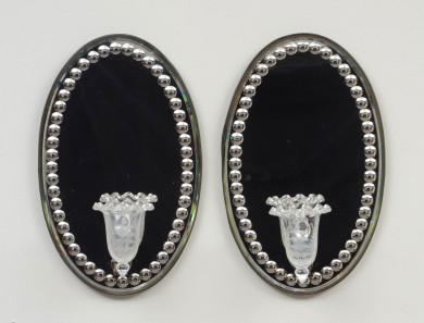 Pair Mirror Wall Sconces