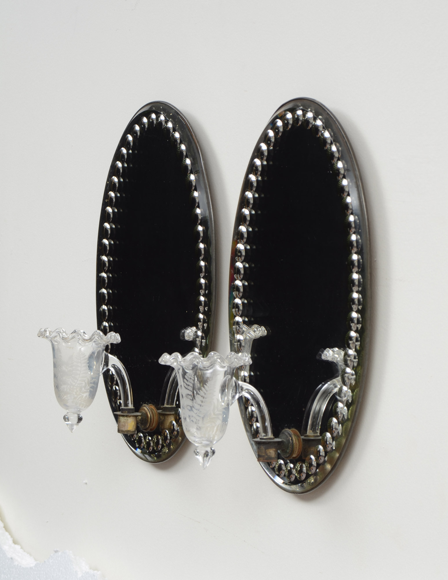 » Product » Pair Mirror Wall Sconces 1