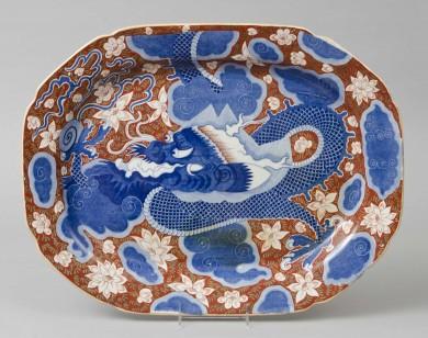 Large Staffordshire Dragon Platter
