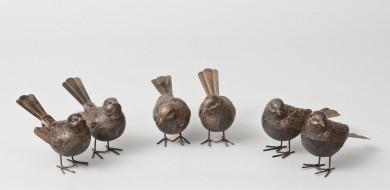 Set of Six Steel Birds