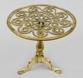 English Antique Brass Tripod Trivet, Circa 1820