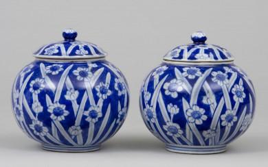 Pair Japanese Hirado Vases