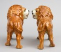 Pair Staffordshire Standing Lions, Circa 1880