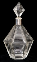 French Cut-Glass Decanter, Circa 1920