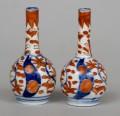 Pair Miniature Japanese Imari Vases, Circa 1900