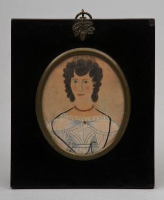 Regency Watercolor of Young Lady, Circa 1820