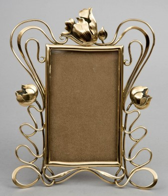 Art Nouveau Brass Photo Frame, Circa 1870