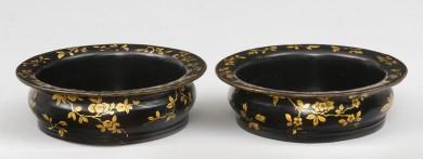 Pair Papier Mache Coasters, Circa 1820