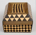 Antique Satinwood & Rosewood Parquetry Box, 18th Century