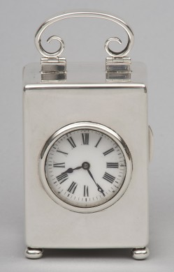 Sterling Silver Carriage Clock, 1901