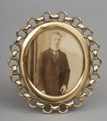 Oval Brass Ring Frame, Circa 1890